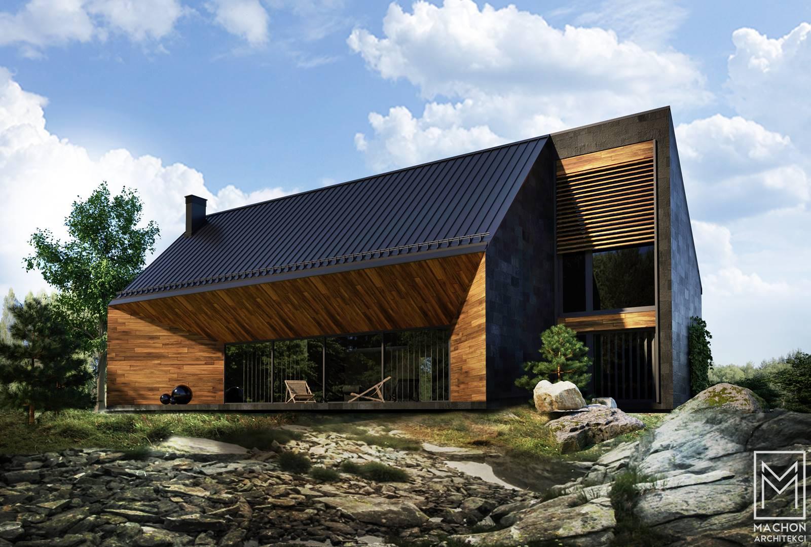 nowoczesny dom z tarasem