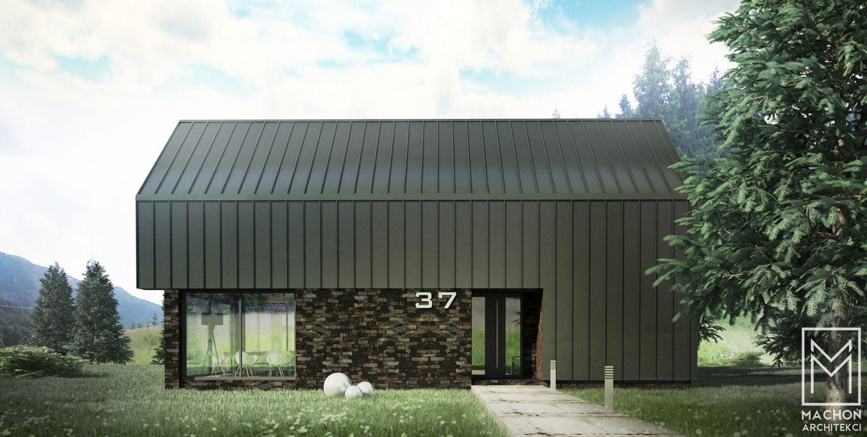 nowoczesny dom stodoła z tarasem
