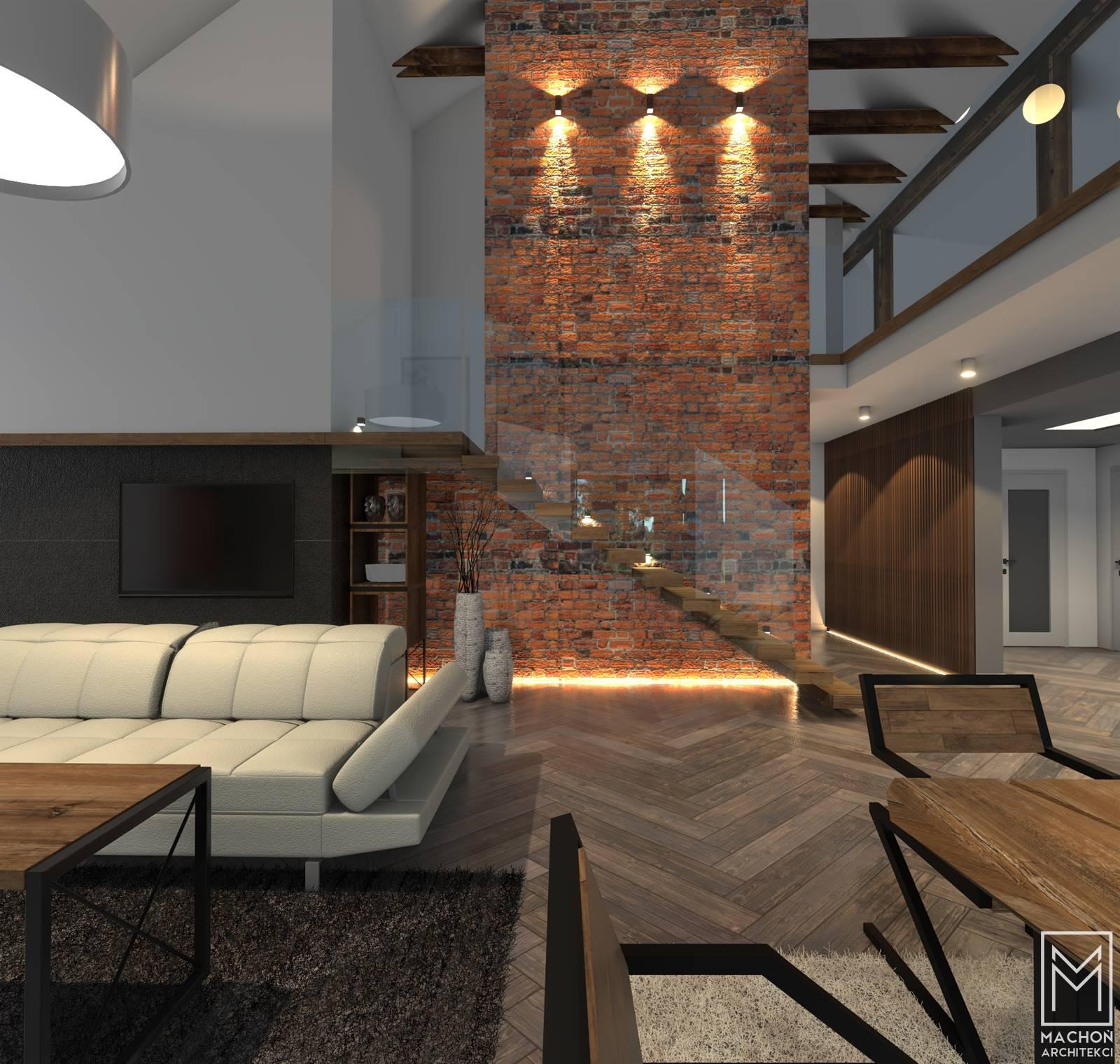 wnętrze domu mieszkalnego nowoczesny dom z tarasem
