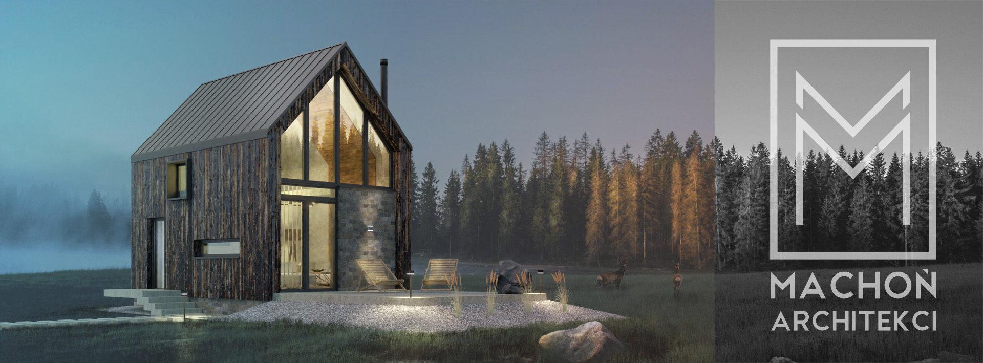 Projekty nowoczesne stodoła letniskowy do 35 m2 mały nowoczesny dom