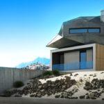 dom koncepcyjny black rock dessert pustynia