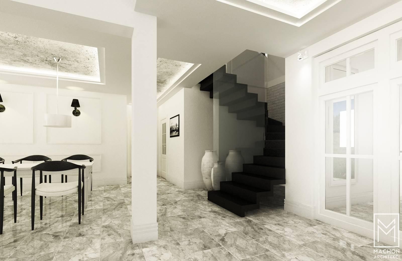 nowoczesne wnętrze z kamieniem naturalnym marmur