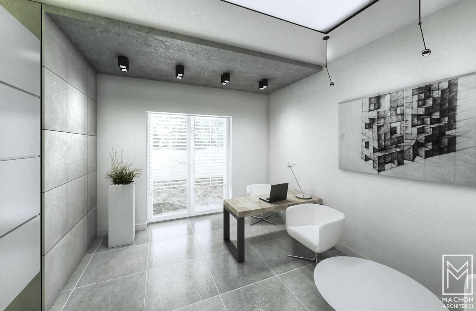 projekt wnętrza biuro w domu
