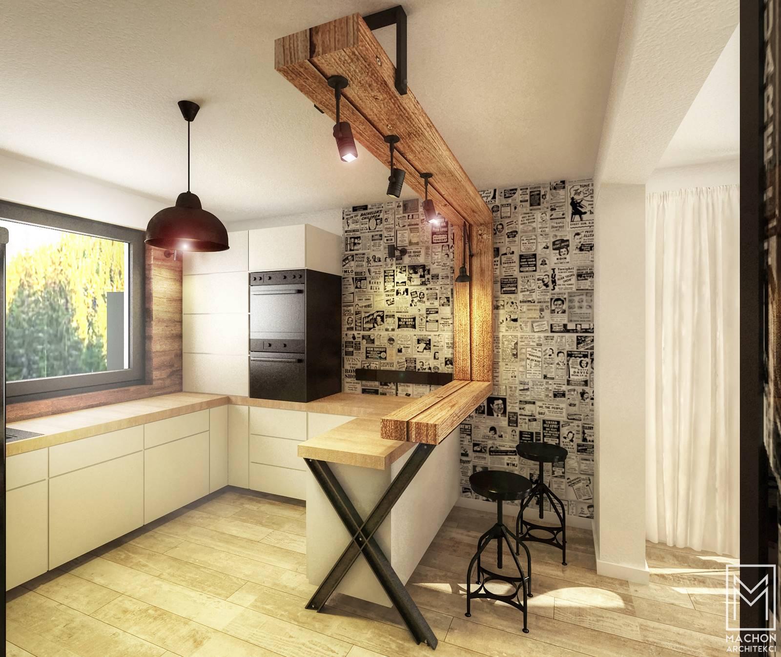 nowoczesna kuchnia loft