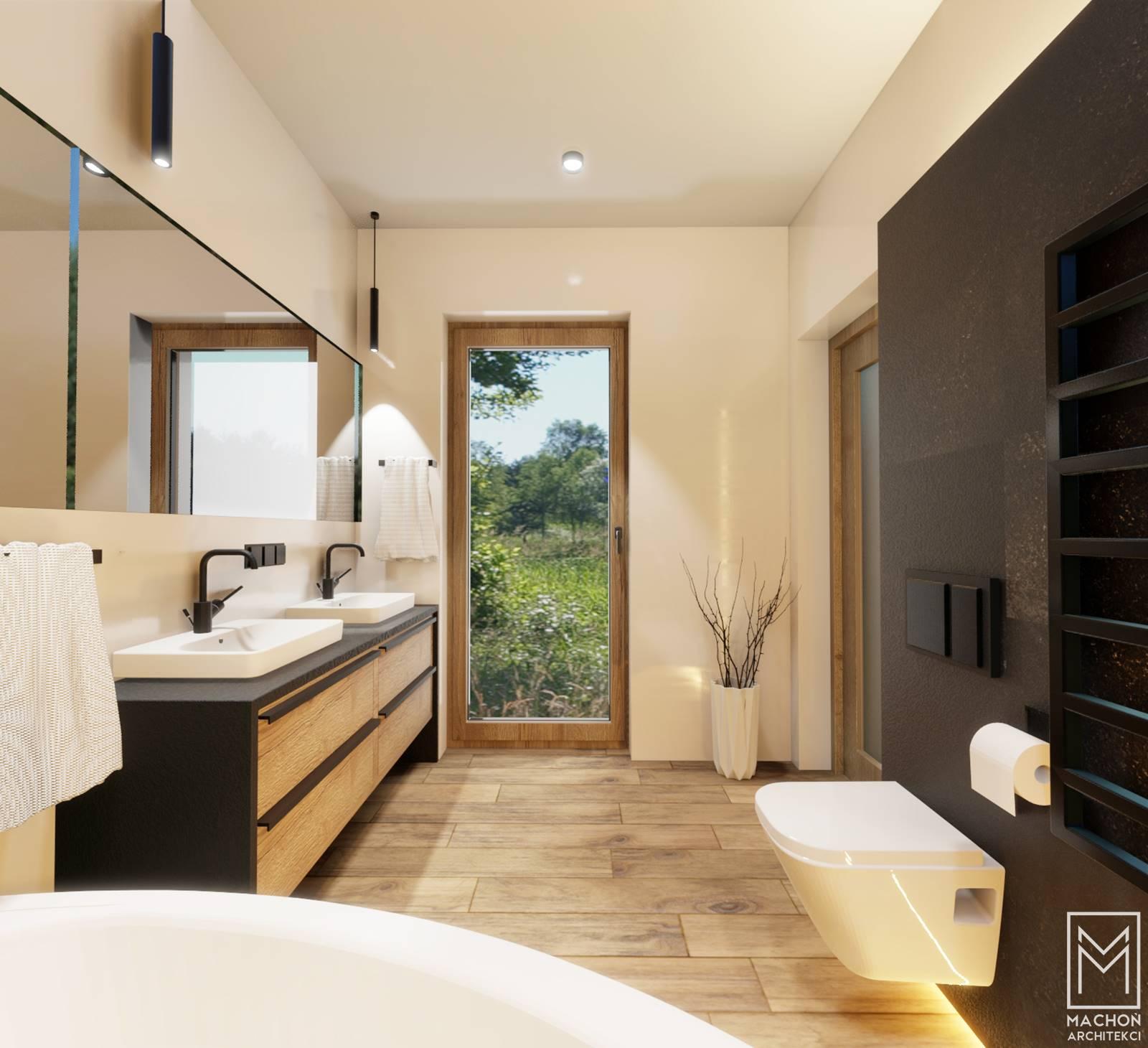 słoneczna łazienka projekt wnętrza