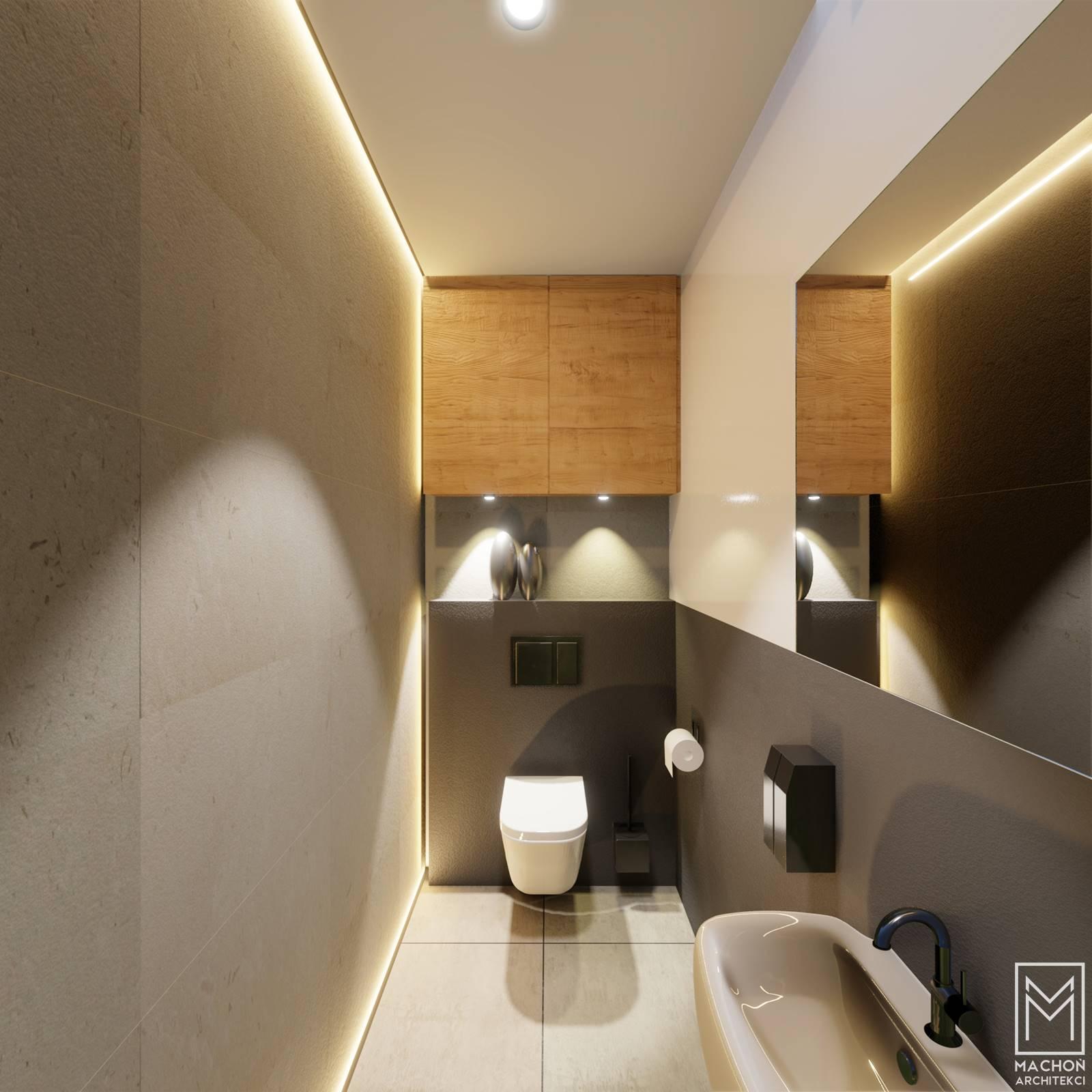 projekt małej łazienki z wc