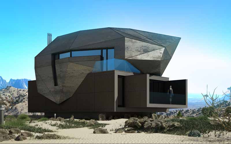 czarny kolor architektura black architecture machon architekci