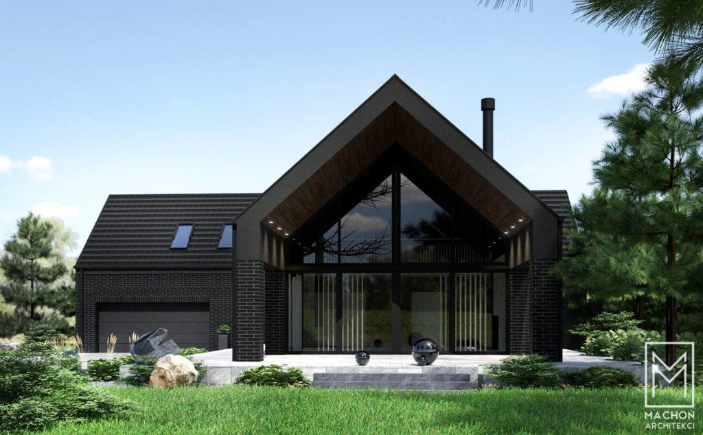 dom w czarnej cegle