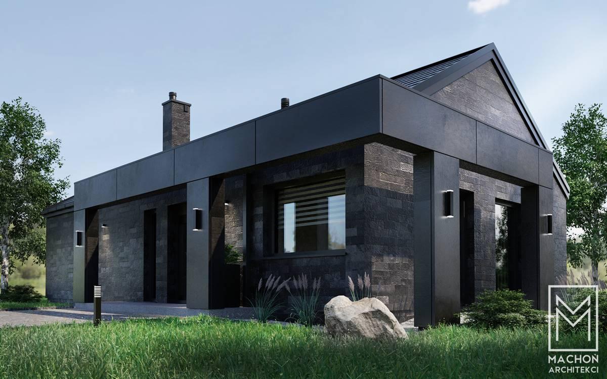 simple dom tani w budowie black edition nowoczesny bez okapu