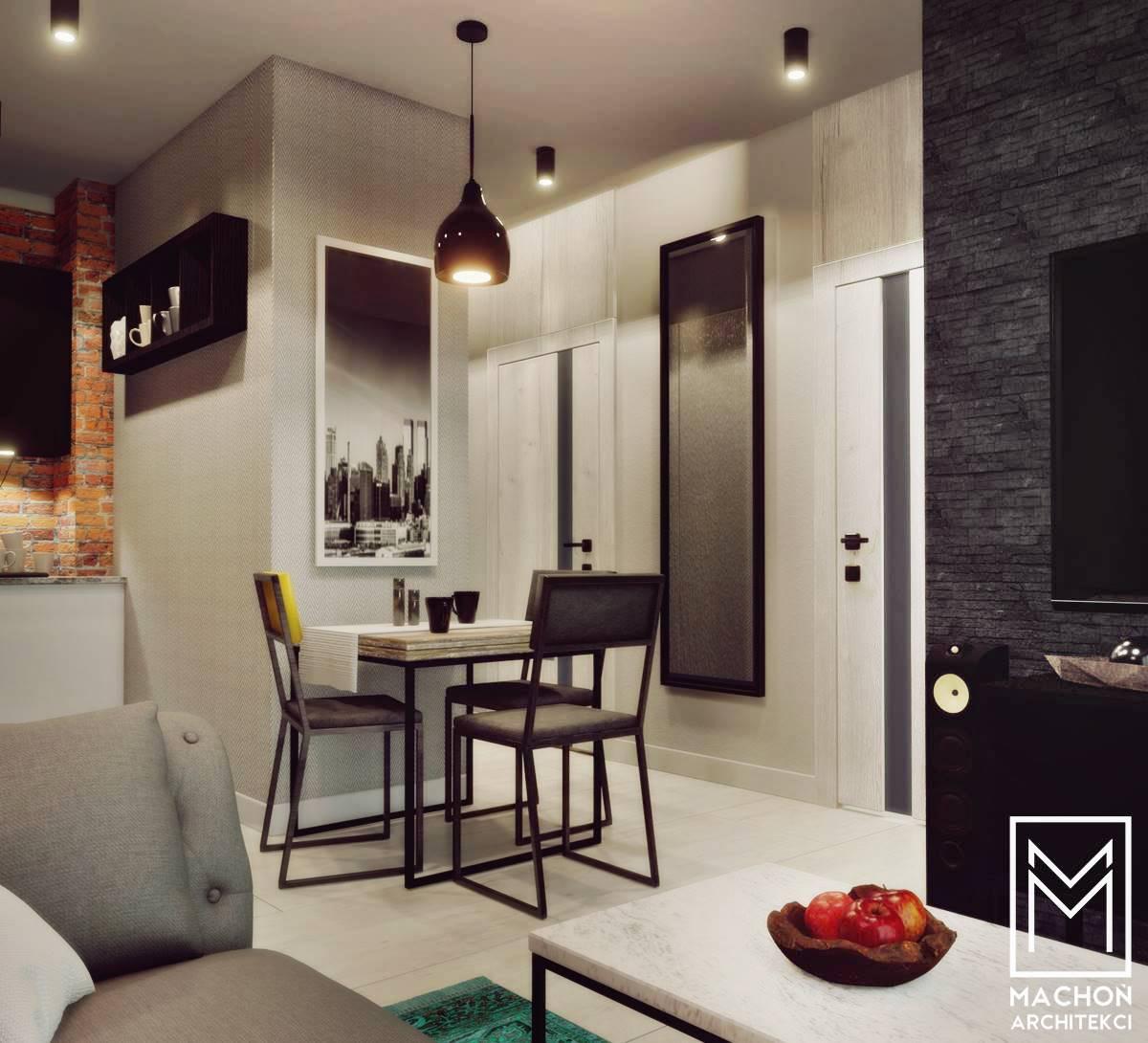 mieszkanie katowice kraków zator wadowice gliwice małopolska sląsk projekt nowoczesnego wnętrza małe mieszkanie loft