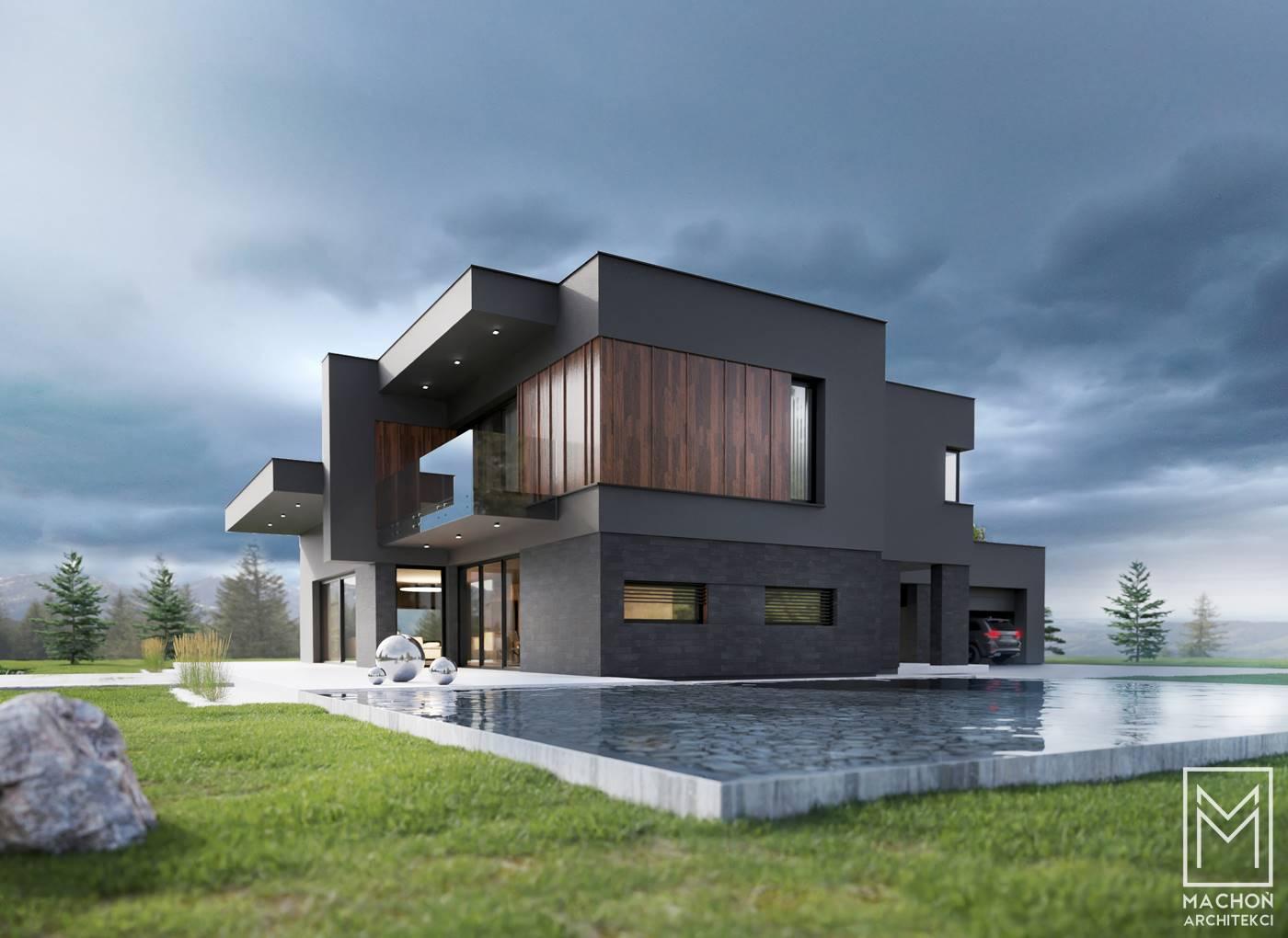dom nad stawem nad jeziorem osiek oświęcim małopolska śląsk projek tindywidualny architekt