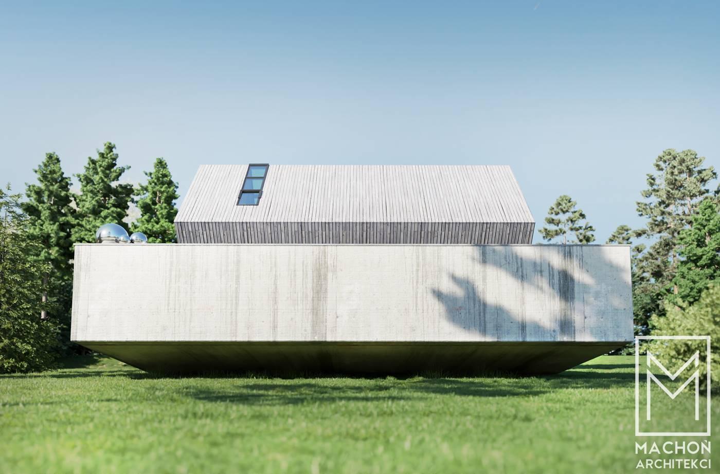 sześcian cube dom letniskowy całoroczny duży a stoku