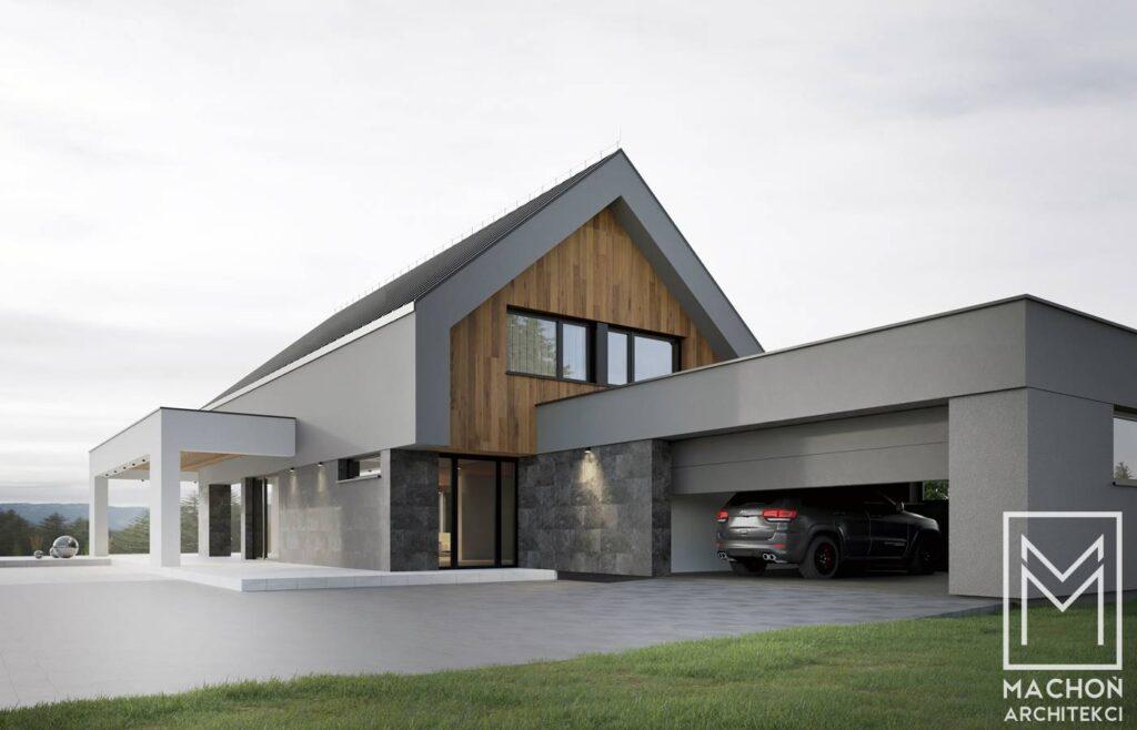 dom nad stawem nowoczesna stodola projek tindywiduany kraków osiek oświęcim śląsk warszawa