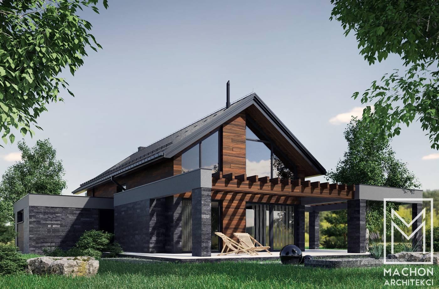 nowoczesny dom mieszkalny szkieletowy,