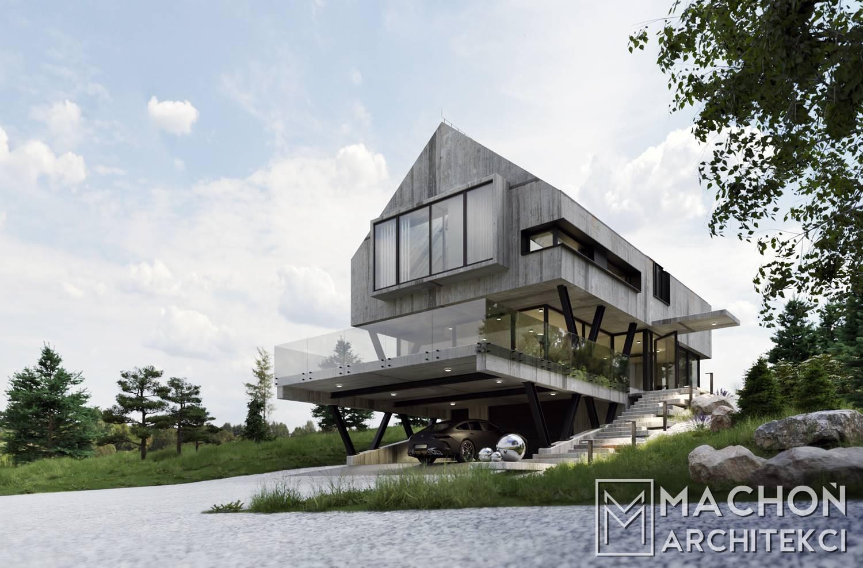 dom nowoczesny projekt indywidualny kraków ałopolska warszawa katowice wrocław