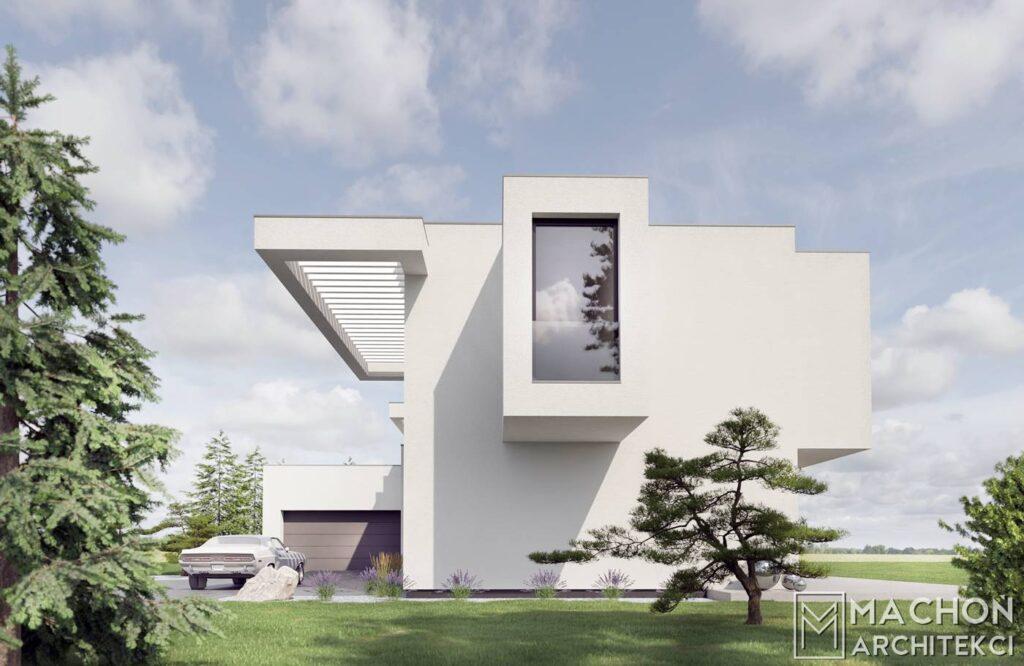 Dom nowoczesny z pałskim dachem projek tindywidualny architekt kraków warszawa